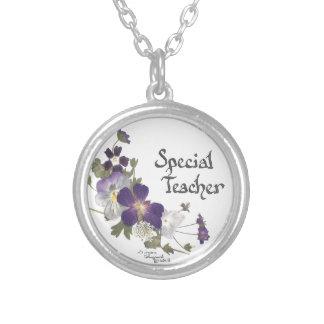 Special Teacher Round Pendant Necklace