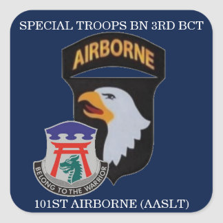 SPECIAL TROOPS BN 3RD BCT 101ST AIRBORNE STICKERS SQUARE STICKER