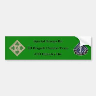 Special Trps Bn 3D BCT 4TH Inf Bumper Sticker