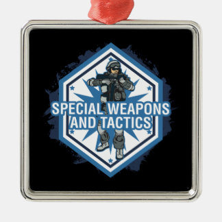 Special Weapons And Tactics Christmas Ornament