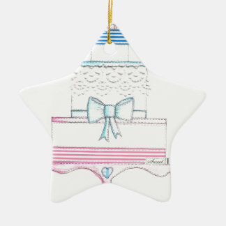 special wedding cake design with lace christmas ornament