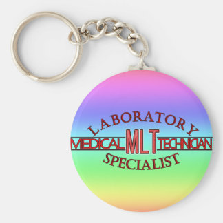 SPECIALIST LAB MLT MEDICAL LABORATORY TECHNICIAN BASIC ROUND BUTTON KEY RING