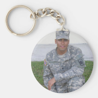 Specialist, National Guard Basic Round Button Key Ring