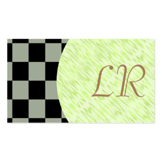 Specialist/ U-pick Color Black Checkered Tiles Pack Of Standard Business Cards