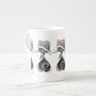 Specialty Mug Bone China black cats in hats