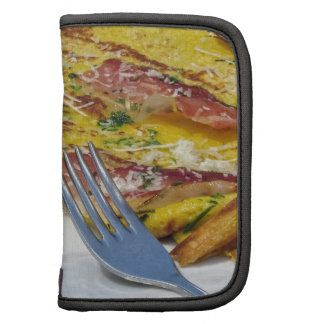 Speck and cheese omelet folio planner