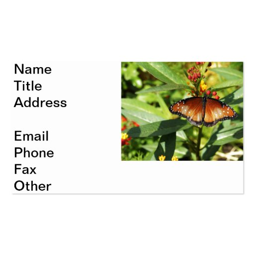 Speckled Butterfly Business Card Template