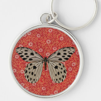Speckled Butterfly Moth Key Chain