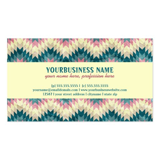 Speckled Chevron Business Cards