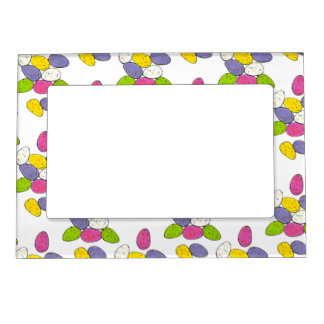 Speckled Easter Egg Hunt Candy Eggs Gift Frame Magnetic Picture Frames
