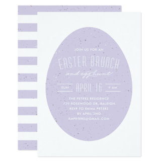 Speckled Egg Easter Invitation - Lavender