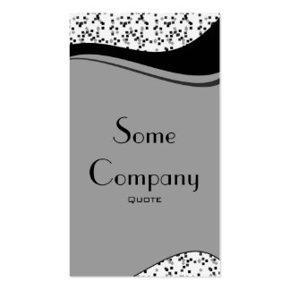 Speckled Elegance (Black And White) Business Card Templates
