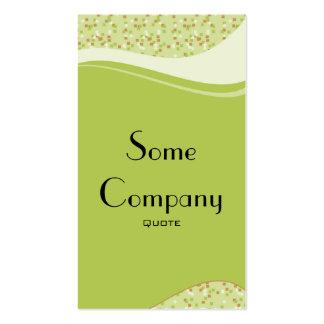 Speckled Elegance (Celery) Business Card