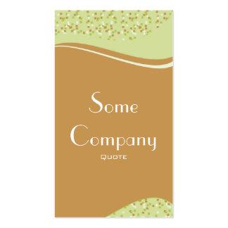 Speckled Elegance (Celery) Business Card Templates