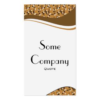 Speckled Elegance (Chocolate) Pack Of Standard Business Cards