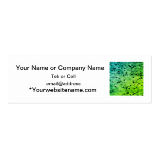 speckled green pattern pack of skinny business cards