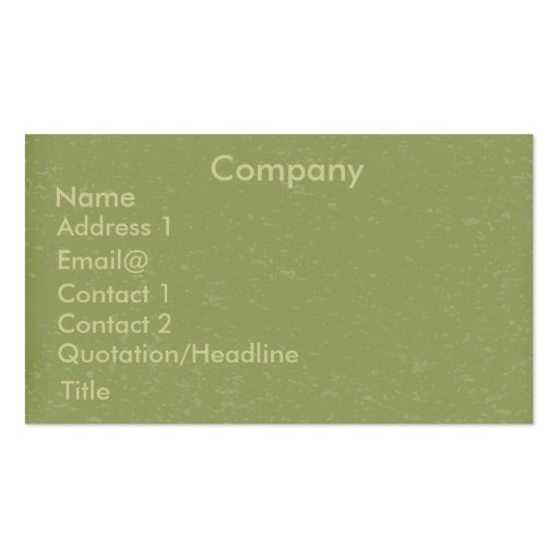 Speckled green Profile Card Business Card