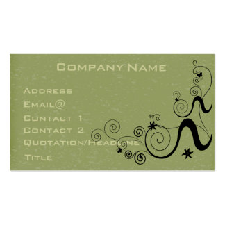 Speckled green Profile Card Customize it Business Cards