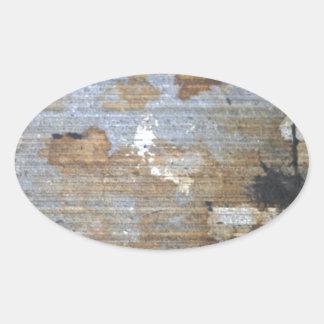 Speckled grunge pattern oval sticker