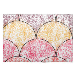 Speckled Mermaid Scales Placemats