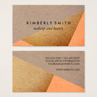 Speckled Natural Color Blocks Business Card