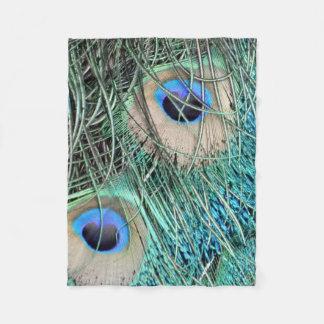 Speckled Peacock Eyes Fleece Blanket