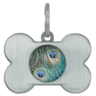 Speckled Peacock Eyes Pet Name Tag