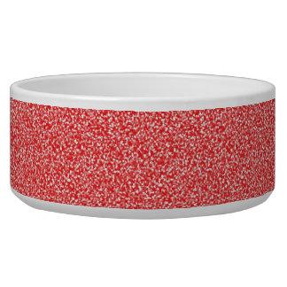 Speckled Red Pet Bowl
