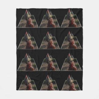 Speckled Rooster Popout Art, Med Fleece Blanket.