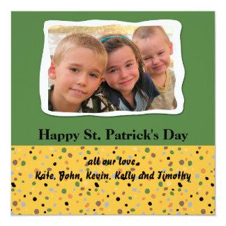 Speckled St. Patrick's Day Photo Card 13 Cm X 13 Cm Square Invitation Card