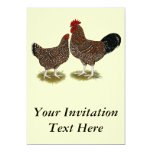 Speckled Sussex Chickens Personalized Invitation