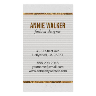 Speckled Texture | Gold Pack Of Standard Business Cards