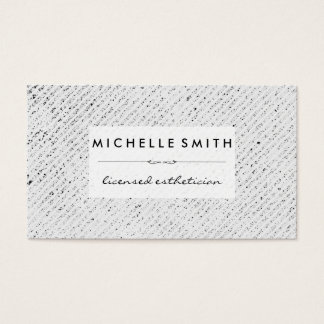 Speckled Texture Stripes White Label Business Card