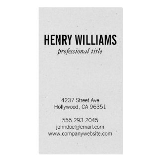Speckled Texture (vertical) Pack Of Standard Business Cards