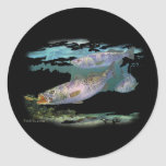 Speckled Trout Feeding Round Stickers