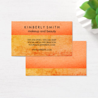 Speckled Two Tone Color Blocks Business Card