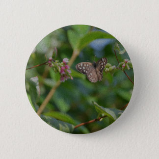 Speckled Wood Butterfly 6 Cm Round Badge
