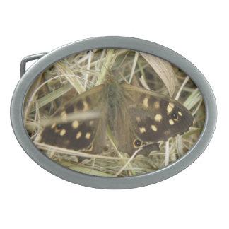 Speckled Wood Butterfly Belt Buckle