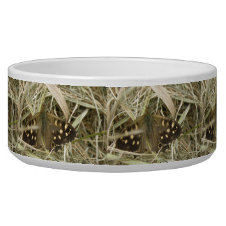 Speckled Wood Butterfly Dog Bowl