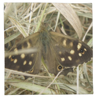 Speckled Wood Butterfly Napkin