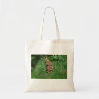 Speckled Wood Butterfly on Bracken Tote Bag