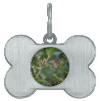 Speckled Wood Butterfly Pet ID Tag