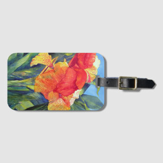 Specled Canna Luggage Tag