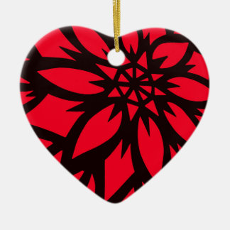 SPECT floral designer hand cut stencils by SPECT. Ceramic Heart Decoration