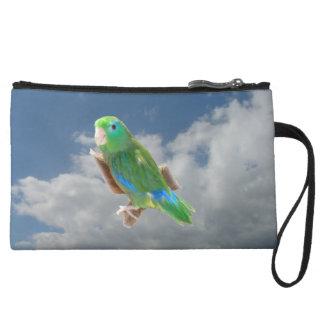 Spectacled Parrotlet Bagettes Bag Wristlet Clutches