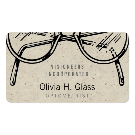 Spectacles Eyewear Speckle Business Card Templates