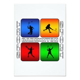 Spectacular Badminton 13 Cm X 18 Cm Invitation Card