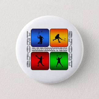 Spectacular Badminton 6 Cm Round Badge