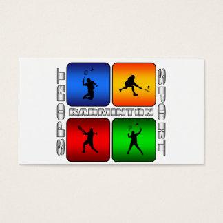 Spectacular Badminton Business Card