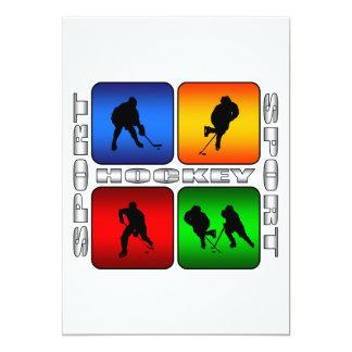 Spectacular Hockey 13 Cm X 18 Cm Invitation Card